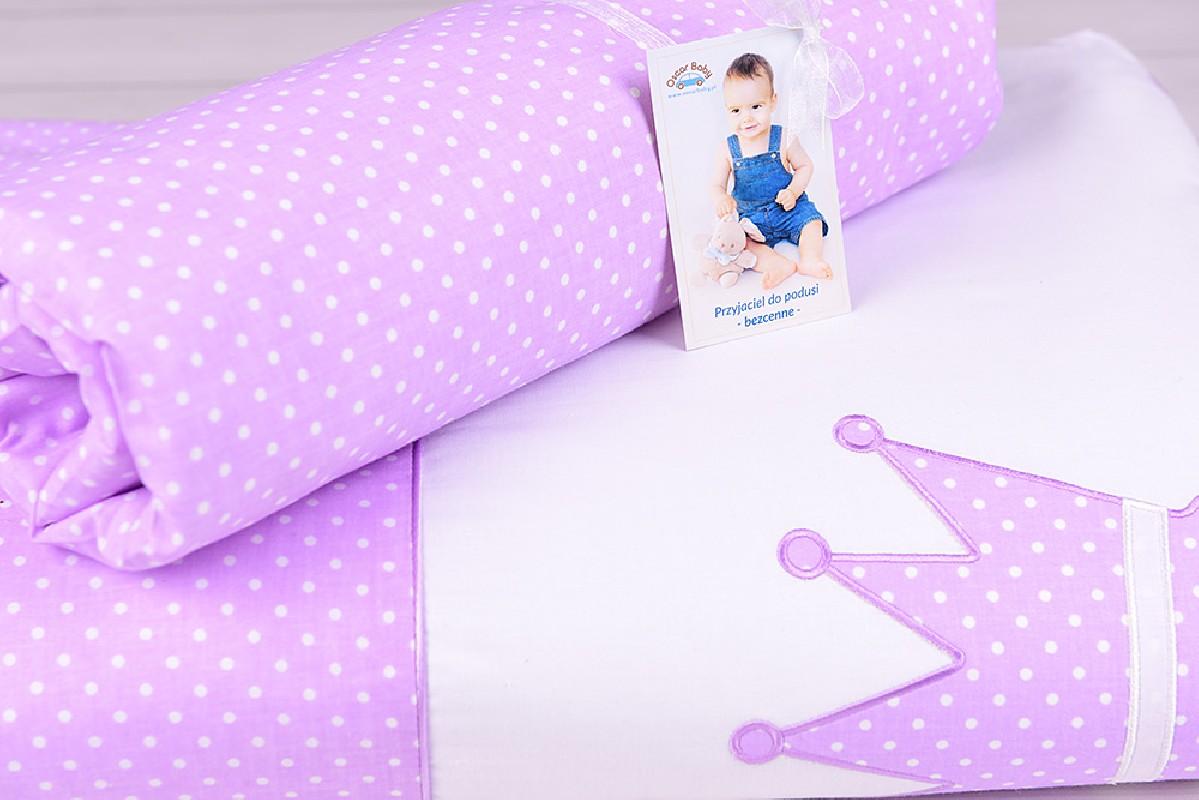 Pościel niemowlęca z wypełnieniem (75x100, 30x40) fiolet Mała Księżniczka