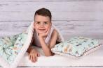 kocyk dziecięcy z ociepleniem 100x130 bawełna premium+minky+ocieplenie