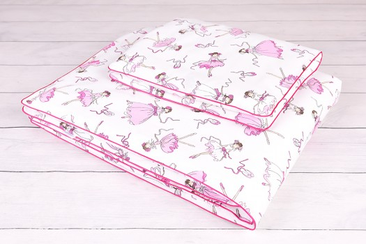 Pościel dla niemowlaka (90x120, 40x60) - Poszewka na kołdrę i poduszkę