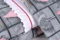 Pościel niemowlęca (75x100, 30x40) z wypełnieniem antyalergicznym, poszewki bawełniane
